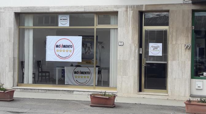 Nuova sede elettorale del Movimento 5 Stelle di Ponsacco