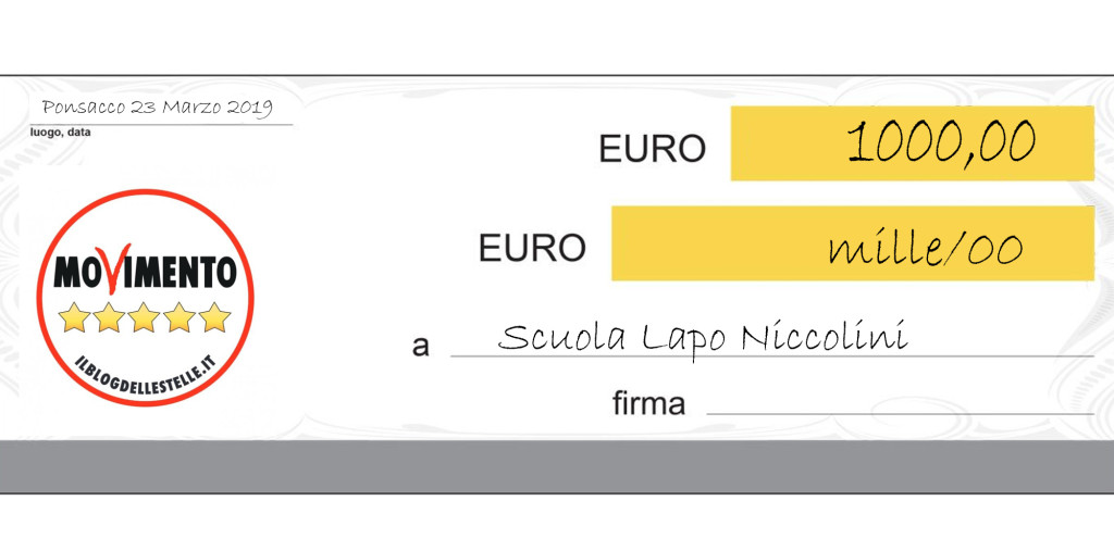 Assegno scuola Niccolini 2019